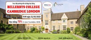 Phỏng vấn học bổng 70% trường TOP A-level tại Anh, BELLERBYS COLLEGE