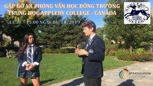 PHỎNG VẤN HỌC BỔNG TRƯỜNG APPLEBY COLLEGE – CANADA NGÀY 16/10/2019 LÚC 1.30PM