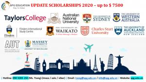 Học bổng Úc & NZ [UPDATE SCHOLARSHIP 2020]