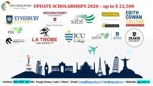 Học bổng AUSTRALIA [UPDATE SCHOLARSHIP 2020]