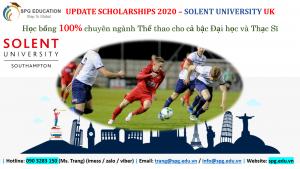 Học bổng Solent UK – chuyên ngành THỂ THAO